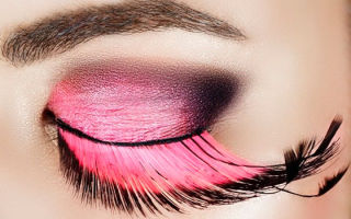 Ресницы с цветными кончиками – яркий акцент внешности
