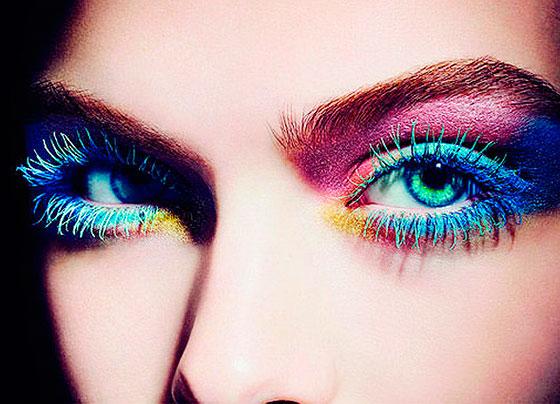 разноцветный макияж