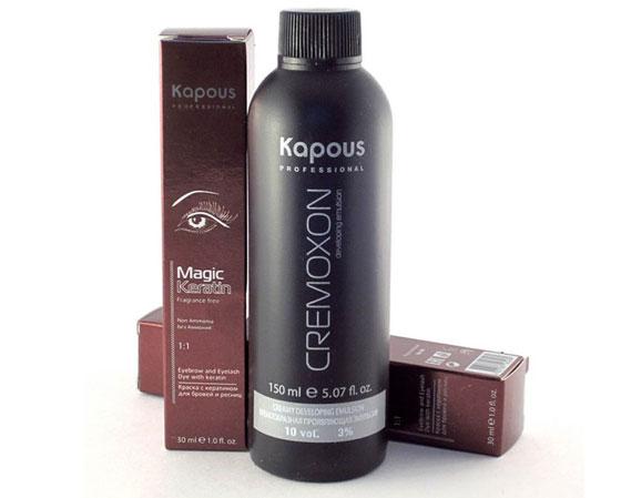 Kapous краска для ресниц: инструкция и состав