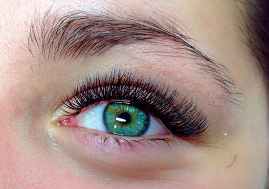 ресницы под зеленые глаза