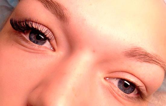 реснички под темные глаза