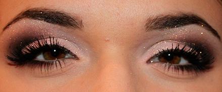 макияж для нарощенных ресниц