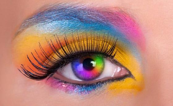 цветной макияж глаз