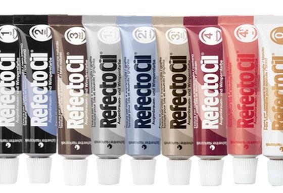 палитра краски для ресниц и бровей refectocil