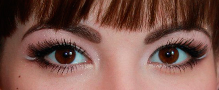 макияж с силиконовой тушью